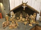 15 Tall Wood  Moss Christmas Nativity Stable Creche Only