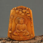 Chinese Exquisite Hand-carved Buddha carving Hetian jade pendant