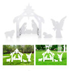 Giant Outdoor Nativity Church Yard Scene Large New Year Decoration White
