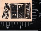 MOMR Stamps Wood Mounted Rubber Stamp Spooky Window