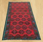 Genuine Hand Knotted Afghan Balouch Wool Area Rug 6 x 3 FT (5205)