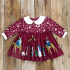 NEW 2T ELEANOR ROSE Silent Night Nativity Manger Jesus PAISLEY Christmas Dress