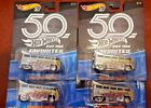 Hot Wheels 2018 Favorites 50th Anniversary LOT OF 4 T1 Drag Bus Real Riders VW