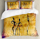 African Duvet Cover Set with Pillow Shams Native Women Dancing Print