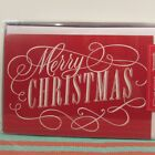 Hallmark Merry Christmas Holiday Boxed Cards 16 Cards  Env Red White Glitter
