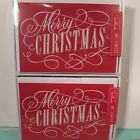 2 boxes Hallmark Merry Christmas Holiday Cards 16 Cards  Env Glitter