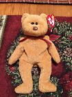 TY CURLY BEANIE BABY CURLY BEAR Retired With Tag Errors VERY RARE FREE SHIPPING!