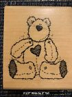 DJ Inkers Wood Mount Rubber Stamp Favorite Teddy Bear