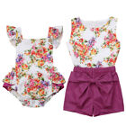 Little Big Sister Matching Clothes Kids Baby Girl Floral Romper Dress Outfits US