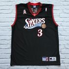 Vintage Philadelphia 76ers Allen Iverson Authentic Jersey by Champion Sewn 52