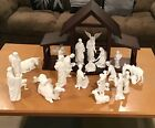 Lenox The Nativity Bone Bisque China complete set with original full creche