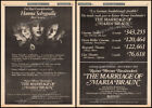 THE MARRIAGE OF MARIA BRAUN Orig 1980 Trade AD poster RAINER WERNER FASSBINDER