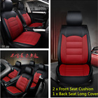 Full Set Universal Breathable 5 Seat Front  Rear PU Leather Seat Cover For Cars