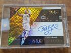 16 17 Select Chris Paul In-Flight Gold Prizm Auto 5 10 Rare Autograph Rockets