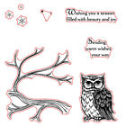 Owls Branches StampsDies Stencil Scrapbook Paper Card Embossing Crafts Supplies