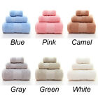 3pcs Bath Soft Set Microfiber Washcloth Luxury Towel Wash Egyptian Cotton Face