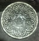 Mint Large Serving bowl Medallion Anchor Hocking Clear Glass Star and Cameo