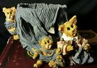 Boyds Bears Folkstone Collection Resin Darby and Jasper..Knittin' Kittens Votive