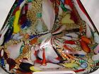MURANO GLASS VENETIAN ITALIAN ART GLASS GREAT COLORS GOLD CANDY DISH ASHTRAY