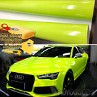 120 x 60 Gloss Neon Green Yellow Vinyl Film Wrap Air Bubble Free 10ft x 5ft
