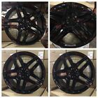 20 MERCEDES BENZ ML63 GLOSS BLACK AMG RIMS WHEELS FITS GL500 ML550 GL CLASS ML