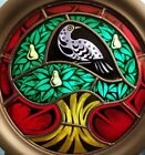 FRANKLIN MINT STAINED GLASS CHRISTMAS PLATE PARTRIDGE IN A PEAR TREE 1976 in BOX