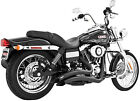 Freedom Performance Sharp Radius Exhaust Black HARLEY DYNA SUPER GLIDE WIDE LOW