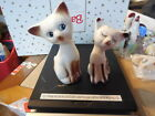 VINTAGE CERAMIC SIAMESE CAT SALT  PEPPER SHAKERS MADE IN JAPAN