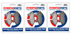 Hyosung GV 650 Aguila 2006 Front & Rear Brake Pads Full Set (3 Pairs)