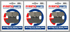 Front & Rear Brake Pads (3 Pairs) for Honda GL 1200 DX Gold Wing 1986