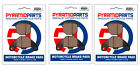 Front & Rear Brake Pads (3 Pairs) for ADLY 100 Thunderbike 2001