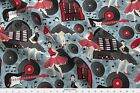 Kociara Guitars Jukebox Rock N Roll Fabric Printed By Spoonflower Bty