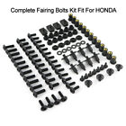 Motorcycle Complete Bolts Kit Fairing Bodywork Screws Nuts Steel Fits For Honda