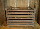 vintage wood crate/box ~ Christmas tree ~ primitive farmhouse rustic storage