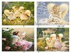 Sweet Little Angels 4 Prints on Fabric Quilting Sewing Crafting FB 128