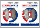 Kymco 50 Nexxon 2008 Front & Rear Brake Pads Full Set (2 Pairs)