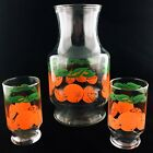 VTG ANCHOR HOCKING Orange Juice Carafe Set  9