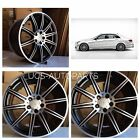 18MERCEDES BENZ E CLASS W212 E250 E350 E550 E63S AMG BLACK RIMS WHEELS