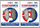 Front & Rear Brake Pads (2 Pairs) for Kymco 150 Straight 2008