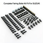 For Suzuki Motorcycle Complete Fairing Bolts Kit Bodywork Screws Nuts Steel