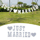 Vintage JUST MARRIED Wedding Banner Party Decor Bunting Photo Booth Props NEW