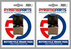 Front & Rear Brake Pads (2 Pairs) for DB Motors ZZ 50 Pirat 2000