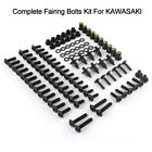 Steel Complete Fairing Bolts Bodywork Screws Nuts Kit For Kawasaki Motorcycle