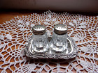 Vintage Small Salt And Pepper Shakers On Tray