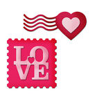 LOVE Square Heart Metal Cutting Dies Stencil Scrapbooking Photo Album Embossing