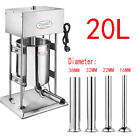 Commercial Electric Sausage Stuffer Stainless Steel Meat Filler Machine 110220v