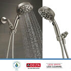 Delta Faucet 7 Spray Handheld Shower Head H2Okinetic Touch Clean Brushed Nickel