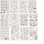 Lovely Young Girls Clear Silicone Stamp Seal DIY scrapbooking photo album Decor