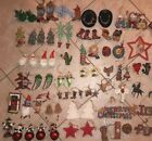 WESTERN Christmas ORNAMENTS Southwest COWBOY Santa BOOTS Horse 75 piece LOT