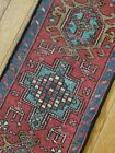 1.2 x 4.6 ANTIQUE GHARAJEH KAZAK PERSIAN HERIZ RUG SERAPI TRIBAL SHIRVAN
